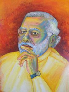 PM OF INDIA NARENDRA MODI PORTRAIT
