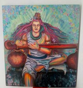 PAinTing- MUSICAL LORD SHIVA