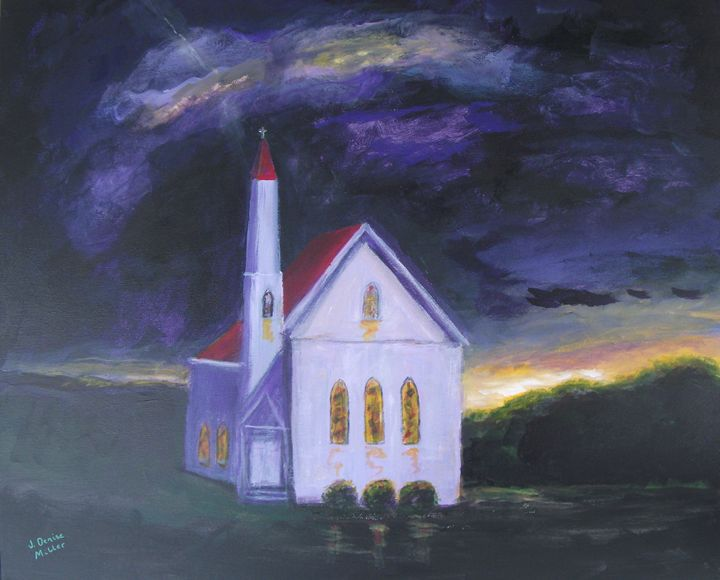 Peace in the Midst of the Storm - J. Denise Miller Fine Art