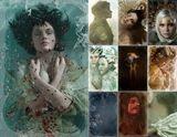 10 art postcards 182 x 117 mm