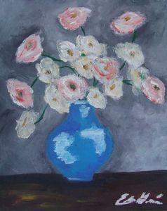 Roses In A Vase - Edna Garcia