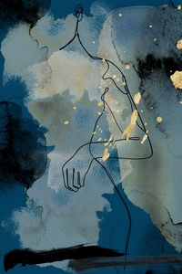 Abstract woman figure silhouette