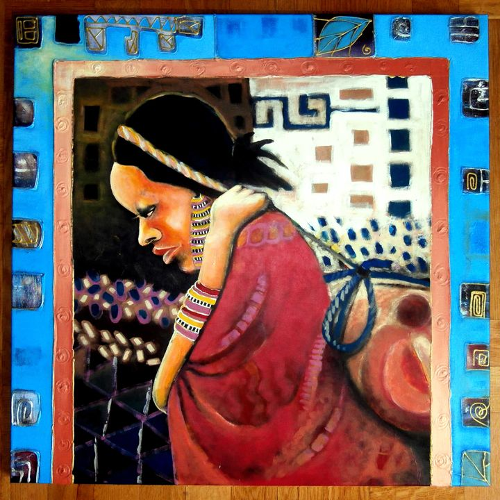 woman with a jerrycan - Golooba kaabi