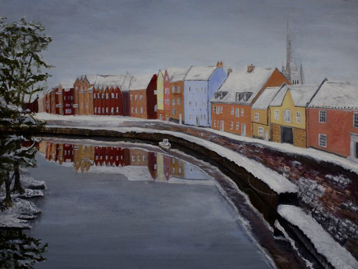 The Fye Bridge over the Wensum - J.E.Long Gallery