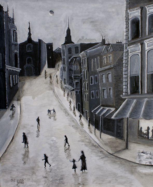 London Street Norwich - J.E.Long Gallery