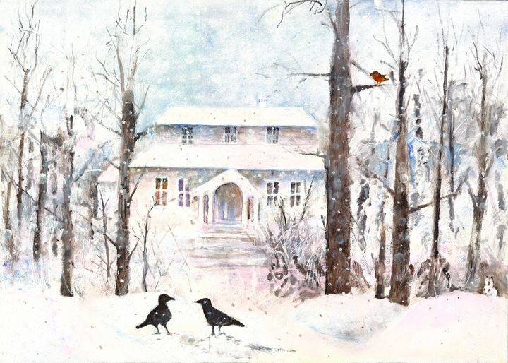 Winter - The House by the Swamp