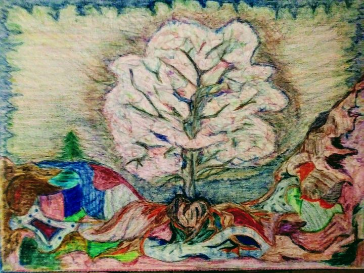 Aura of Dogwood in Painted Earth - E.M. Zerbe
