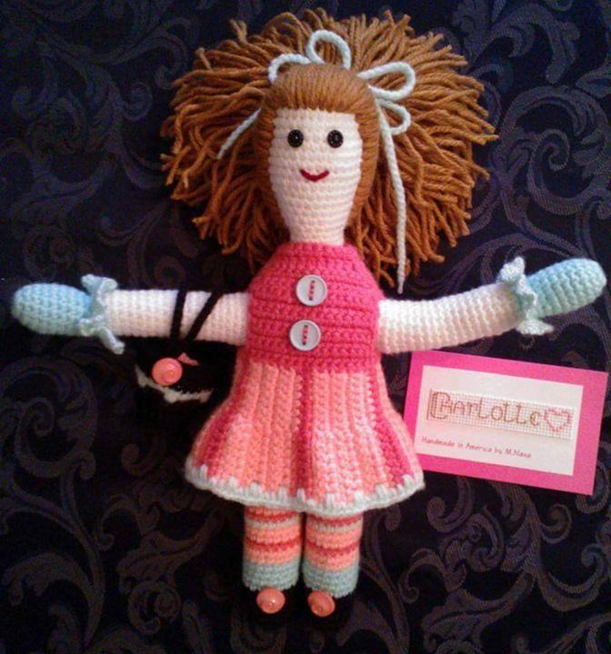 14' Crochet Doll. Unique design - Unique Crochet Dolls & Accessories