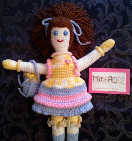 "14"" Handmade Crochet Doll - Unique Crochet Dolls & Accessories"