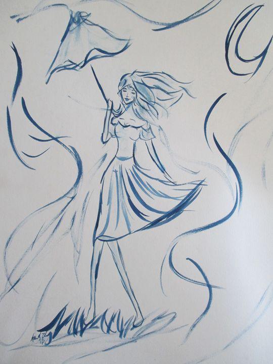 Windy Day - AmandaZ Art