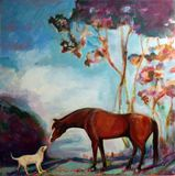 dog and horse painting