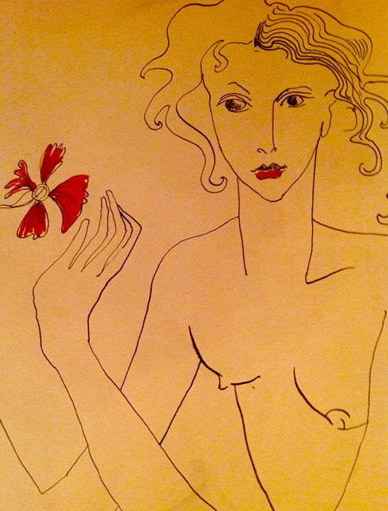 The red flower - The untitled and unknown