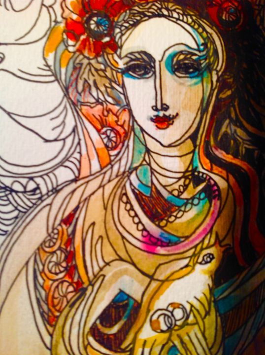 Ukrainian bride (detail) - The untitled and unknown
