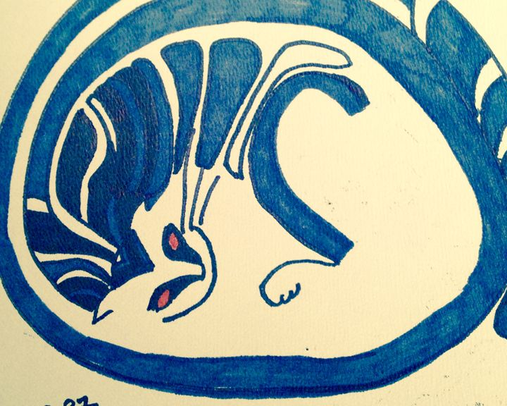 The blue cat - The untitled and unknown