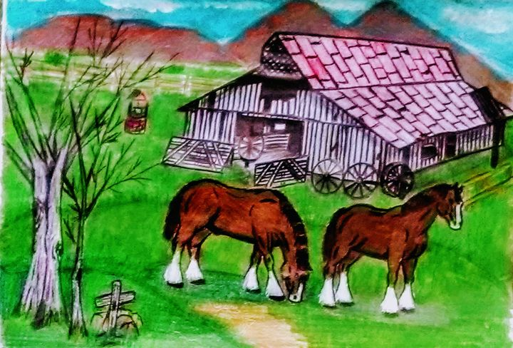 Clydesdale Spring Day - Gaylynns Art