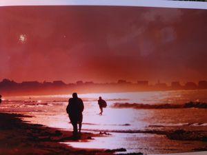 Man on beach in lahinch - Tony mc