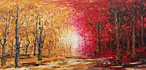 Crimson and Gold Trees