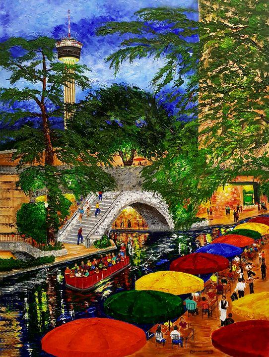 River Walk Evening - Joseph Fine Artist