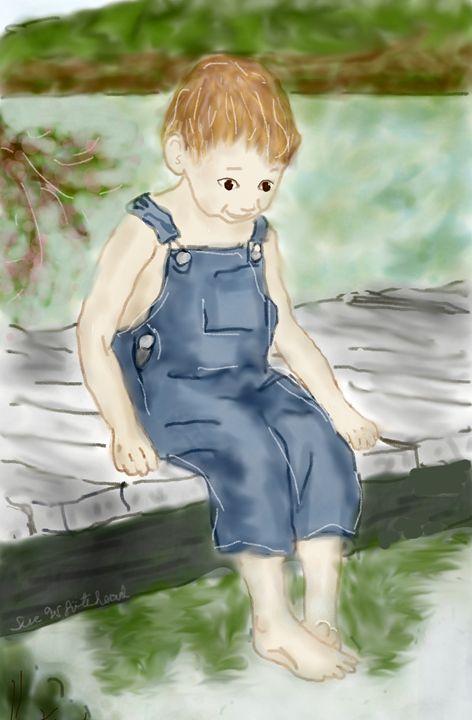Boy's Summer At the Lake - Sue Whitehead Arts