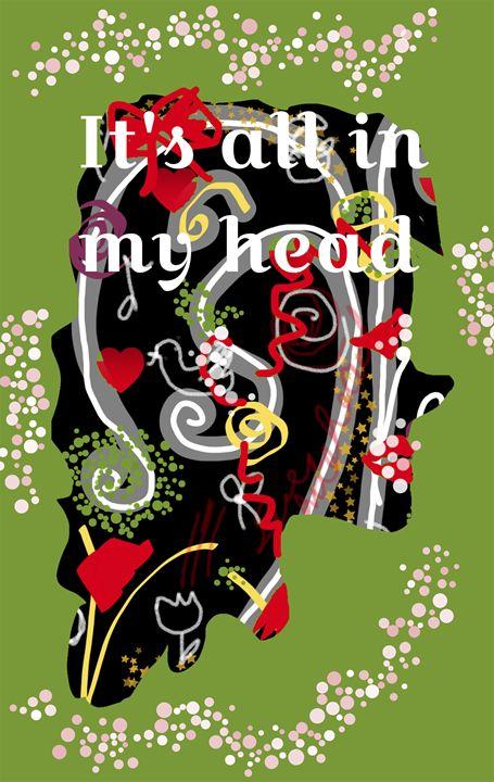 It's All In My Head woman's silhouet - Sue Whitehead Arts