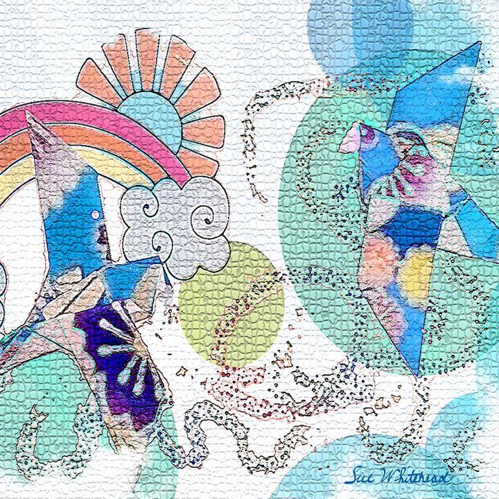 Birds Over the Rainbow - Sue Whitehead Arts
