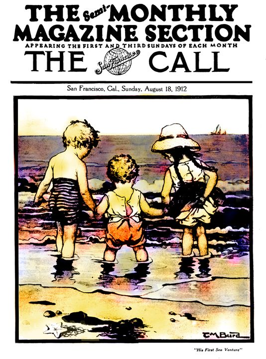 His First Sea Venture Vintage Poster - Sue Whitehead Arts