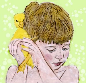 Boy and Duckling