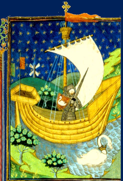 Knight on Boat Going to Holy Wars - Sue Whitehead Arts