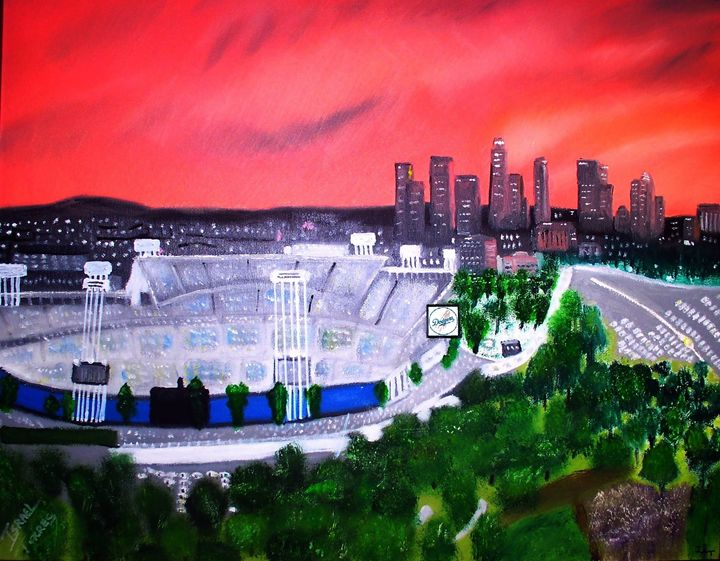 Dodger Stadium / La Skyline - Israel Torres Art