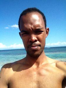 Beach man watch speech