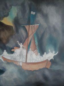 Christ on Stormy seas