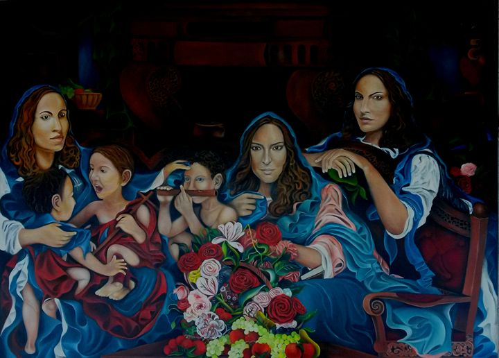 three graces with jesus - Andre Silvera