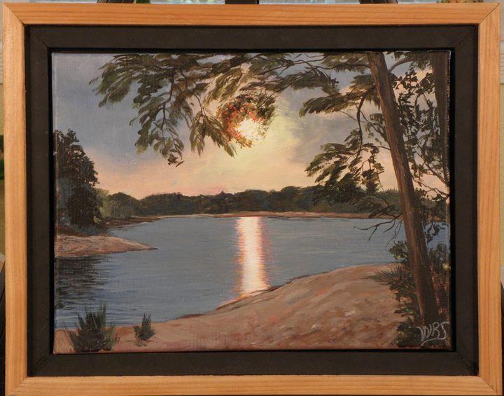 Georgia Lakeside Evening - WSanders Gallery