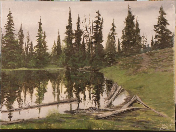 Northwestern Cascade Lake - WSanders Gallery