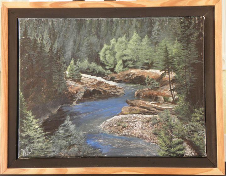 Clackamas River Bend - WSanders Gallery