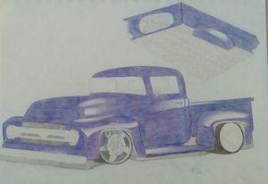 Custom 50's Ford Truck