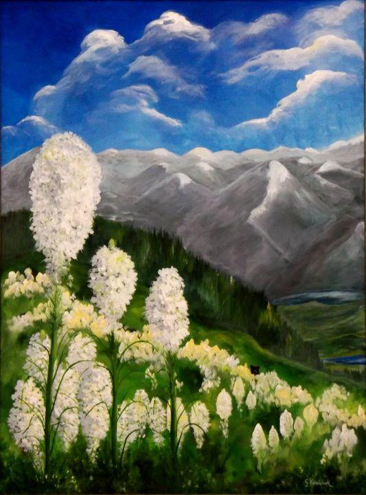 Bear Grass on Schweitzer Mountain - CJ Kovalchuk
