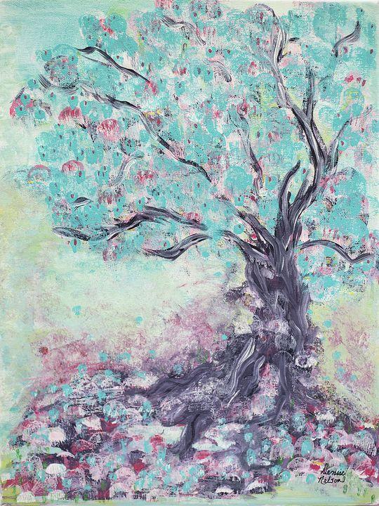 Aqua Tree - Denise Nelson Art