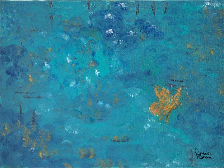 Gold Butterfly - Denise Nelson Art