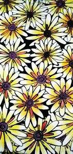 yellow daisy flower doodle work