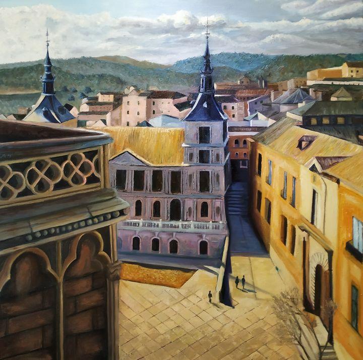 Toledo, plaza del Ayuntamiento - Rosacolorarte