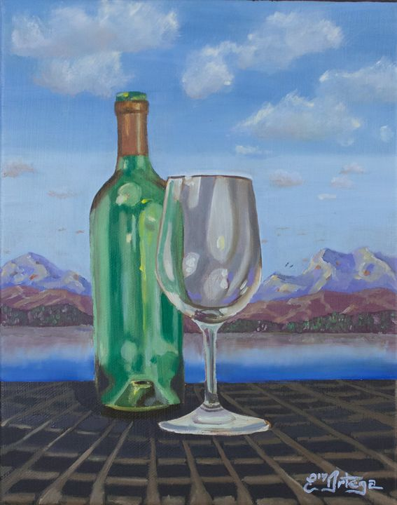 Landscape bottle - Erick Ortega Art