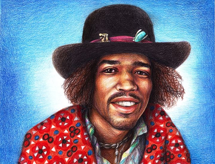 Unique (why?) drawing Jimmi Hendrix - drawings