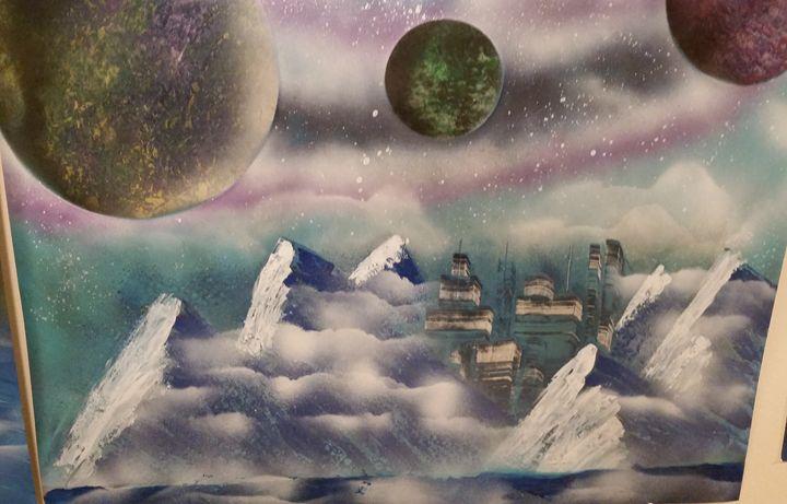 Misty Mountaintops - Aether Art