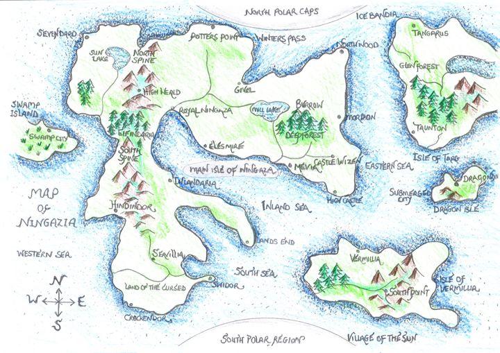 Colour map of Ningazia - J J burch