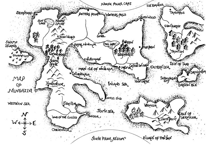 Map of Ningazia - J J burch