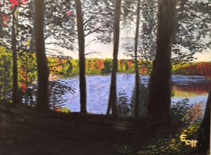 """Peeking through the trees"" - Elena Ott"