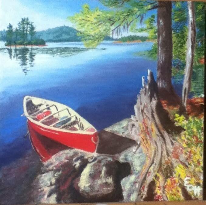 Red canoe - Elena Ott