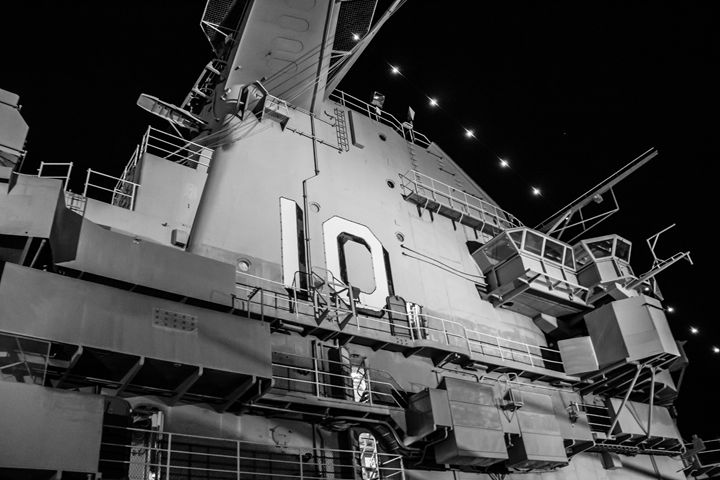 USS Yorktown at Midnight - PhotogNinja
