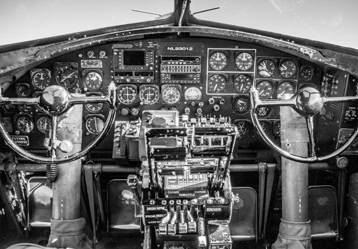 "B17 Cockpit ""Nine O Nine"" - PhotogNinja"